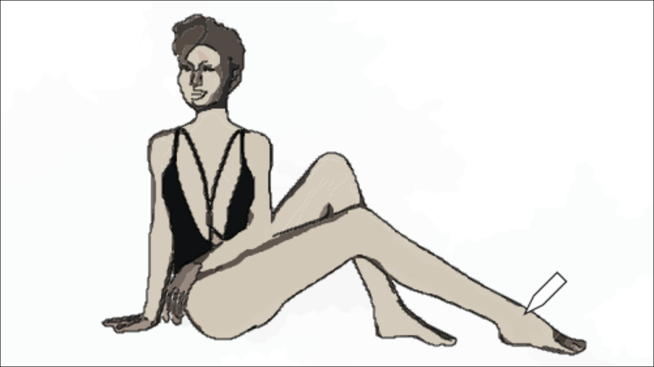 Sketch of a female form